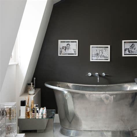 metal bathroom black bathroom with metal bath bathroom decorating ideas housetohome co uk