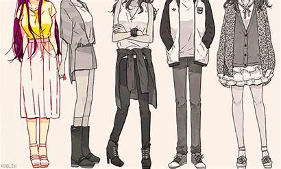 Anime Outfits Kawaii Edit Casual Outfit Drawing