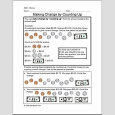 Making Change By Counting Up Worksheet Abcteach