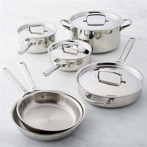 Wolf Gourmet Stainless Steel 10 Piece Set   Williams Sonoma