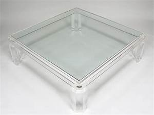 large lucite coffee table With large acrylic coffee table