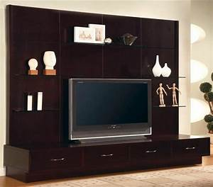 Modern Flat Panel TV Wall Mount Unit Stand Cappuccino ...