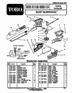 Toro 51566 Quiet Blower Vac Parts Catalog  1999 Page 1