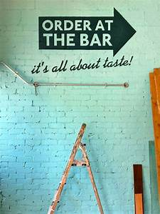 Best 25 cafe wall ideas on pinterest coffee shop design for What kind of paint to use on kitchen cabinets for vinyl wall art stickers