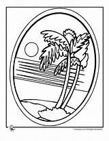 Palm Tree Colouring Luau Coloring Pages Printables Button Popular Activities sketch template