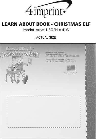 4imprintcom Learn About Book  Christmas Elf 143262elf