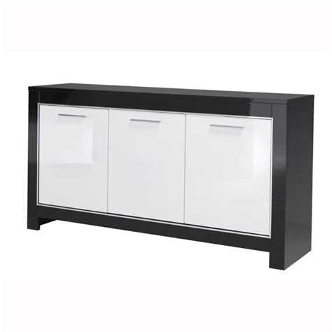 Black And White Sideboard by Lorenz Sideboard In Black And White High Gloss With 3