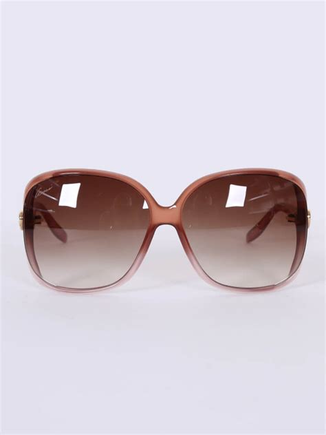 gucci heart interlocking oversize sunglasses brown