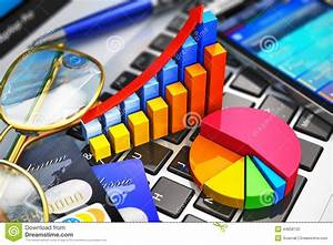 Business Work And Financial Analysis Concept Stock Illustration
