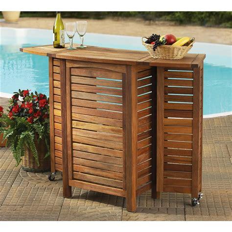 amazon teak folding bar  patio furniture