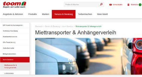 Toom Transporter Mieten Kosten Bestepraxistipps