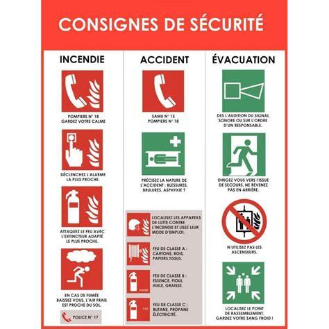 bureau de contr e obligatoire panneau d 39 affichage en pvc consignes de sécurité