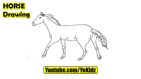 draw  horse easy youtube