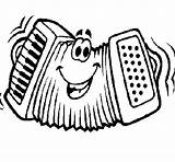 Accordion Coloring Funny Instruments Chainsaw Stihl Cartoon Drawing Coloringcrew Musical Template sketch template