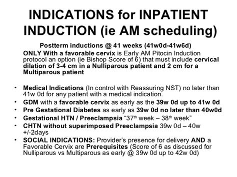 when to schedule posterm induction