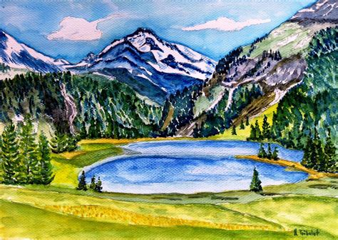 aquarelle berge aquarelle berge und landschaften hans