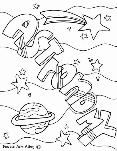 Science Coloring Pages Printable Physics Matter Astronomy