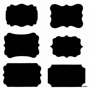 vinyl fancy rectangle chalkboard label decal wedding With black labels for printing