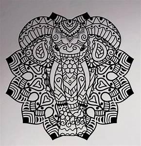 Aliexpress com : Buy Indian Elephant Mandala Vinyl Decal