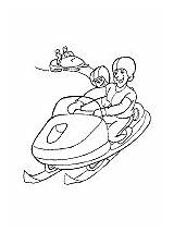 Snow Snowmobile Coloring Printable Activities Transport sketch template