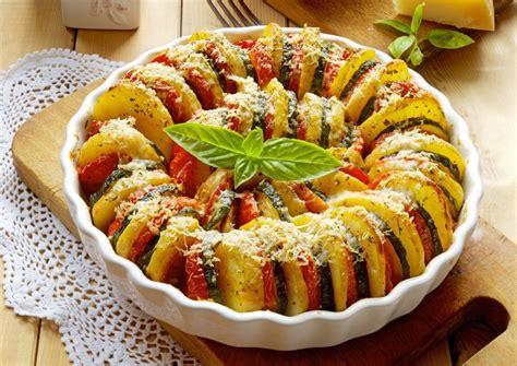 idée accompagnement barbecue recette du tian de courgettes et tomates au gruy 232 re