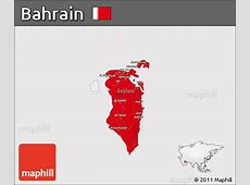 Free Flag 3D Map of Bahrain