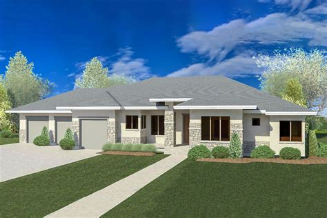 One Story Prairie Style House Plan