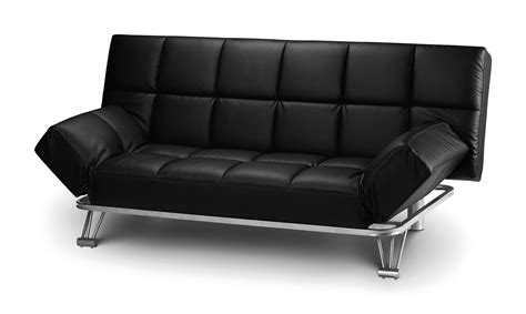 Faux Leather Bed Settee by Julian Bowen Manhattan Sofa Bed Settee Black Faux Leather
