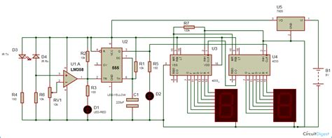 Digit Object Counter Circuit Diagram Using