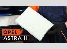 How to replace pollen filter on OPEL ASTRA H TUTORIAL