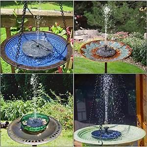 Fontaine Solaire Pour Bassin : hiluckey fontaine solaire pompe eau solaire ex cute automatiquement aucun plantes batterie ~ Melissatoandfro.com Idées de Décoration