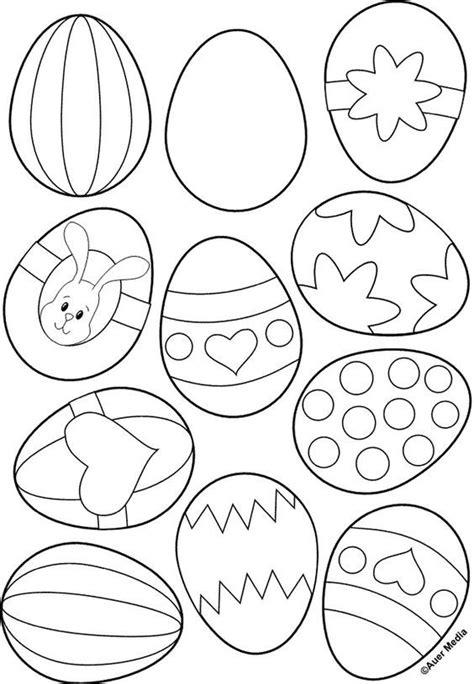Kleurplaten Paaseieren by Kleurplaat Voor Paaseieren Pasen