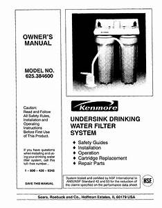 Kenmore Water System 625 384600 User Guide