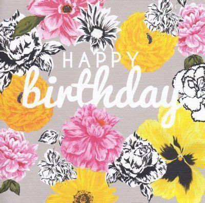 birthday card golden pansy   happy birthday