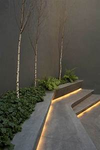 use led strip lights under the steps and create an With outdoor led strip lights for stairs