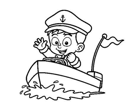 Barco Dibujo Para Pintar by Dibujo De Barco Y Capit 225 N Para Colorear Dibujos Net