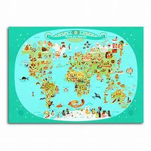Affiche Carte Du Monde : affiche tour du monde julie mercier kidzcorner ~ Dailycaller-alerts.com Idées de Décoration