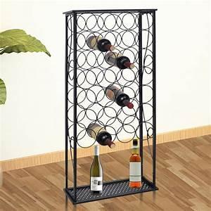 vidaXL.co.uk | Metal Wine Rack Wine Stand for 28 Bottles