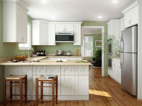 buy ice white shaker kitchen cabinets