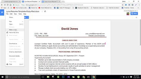 10 docs resume template in 2018 best cv