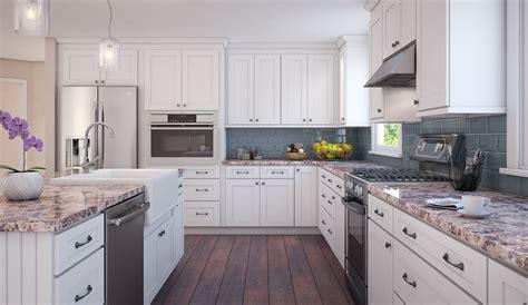 brilliant white shaker ready to assemble kitchen