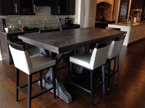 reclaimed chevron dining room table fama creations