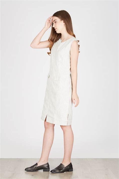 sell helen white stripe dress casual berrybenkacom