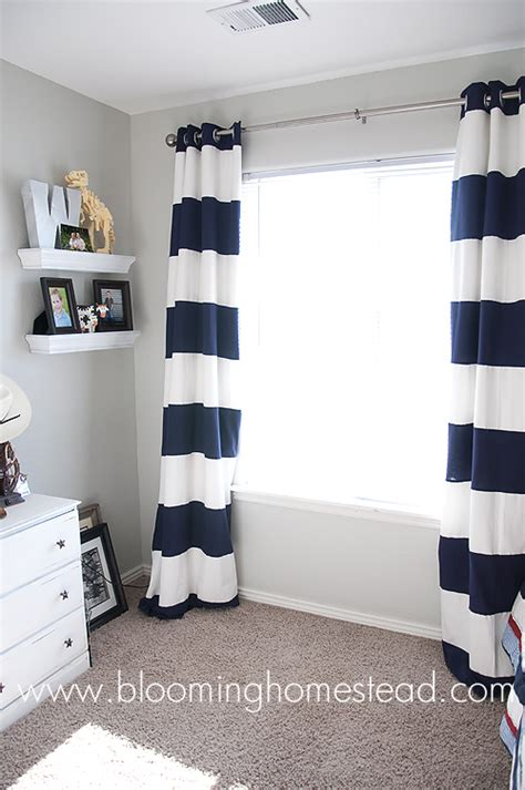 striped curtains how to blooming homestead