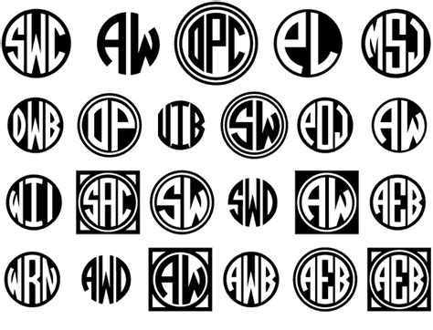 circle monograms font family  harolds fonts font bros