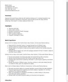 resume format exles documentation professional document review attorney templates to showcase your talent myperfectresume