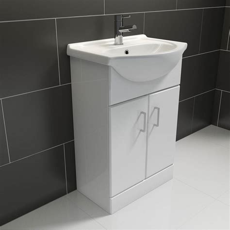 Bathroom Vanity Units Plumbworld White Vanity Unit With Basin 550mm Victoriaplum