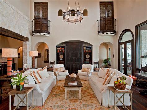 spanish living room  stone entryway hgtv