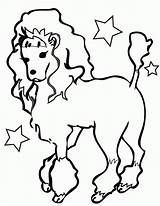 Coloring Pages Poodles Poodle Creativity Recognition Develop Ages Skills Focus Motor Way Fun sketch template