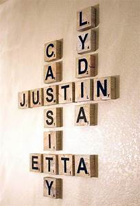 scrabble living large family names art project family With family letters wall decor